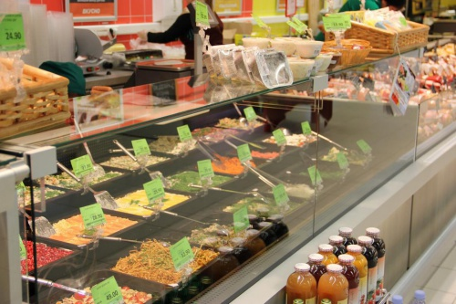 Магазинные витрины фото салатного отдела